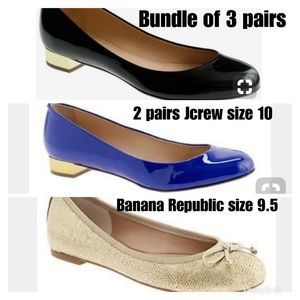 Bundle of 3 pairs of flats